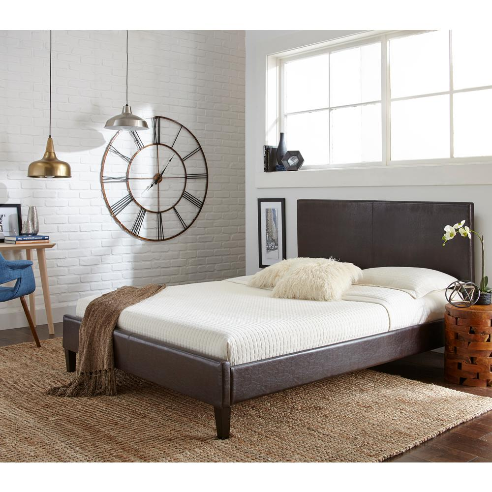Rest Rite Brown Twin Upholstered Bed Hcrrbrpdbedtw The