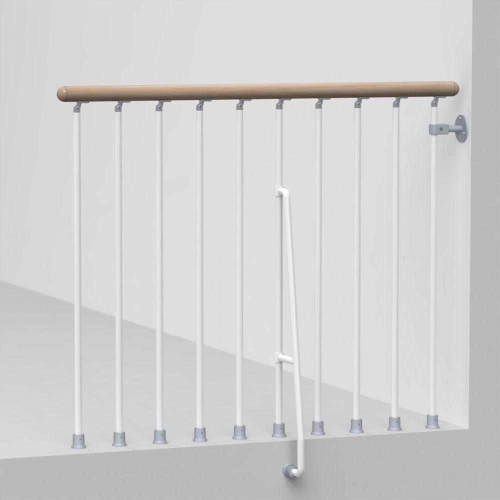 Metal Deck Stair Railings Deck Railings The Home Depot | Metal Stair Railing Home Depot | Cast Iron Handrail | Porch Railings | Spindles | Balusters | Aluminum Railing