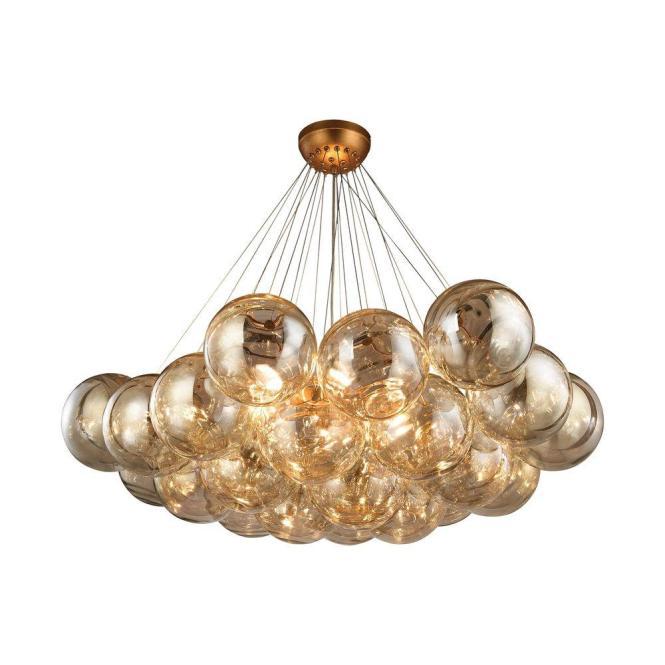 An Lighting Cielo 6 Light Antique Gold Leaf Chandelier