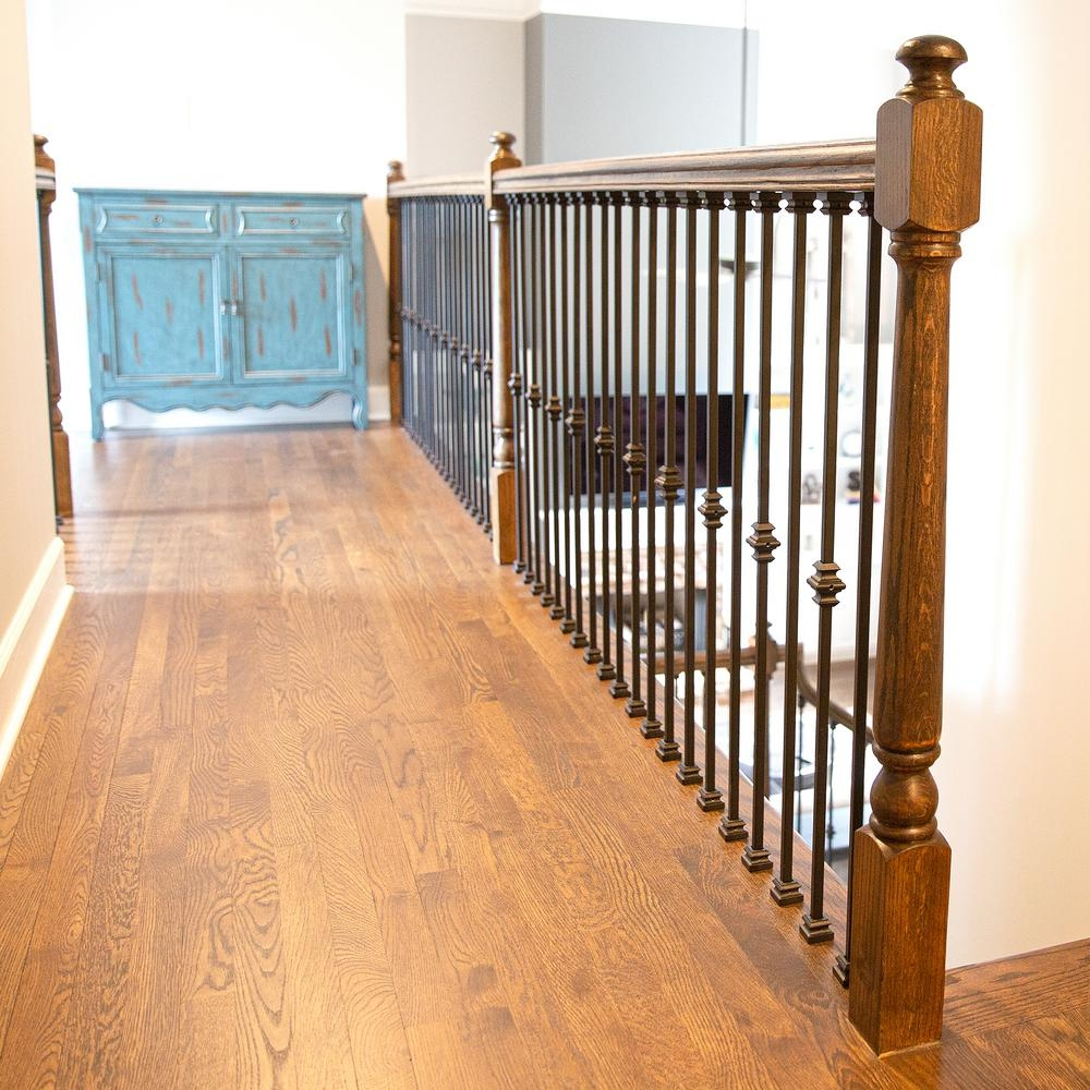 Stair Parts Tap And Twist 1 2 In Hollow Metal Baluster Install   Installing Wood Balusters On An Angle   Stair Parts   Stair Spindles   Banister   Knee Wall   Handrails