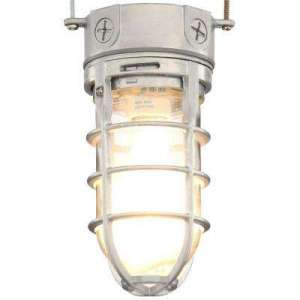 Dusk to Dawn   Outdoor Ceiling Lighting   Outdoor Lighting   The     Ovt Gray Outdoor Vapor Tight Ceiling Light Flush Mount