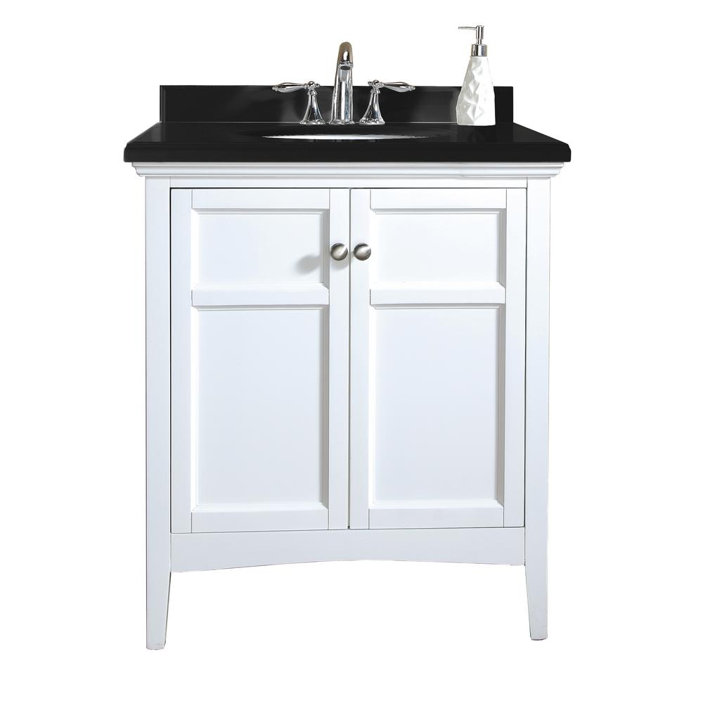 OVE Decors Campo 30 In Vanity In White Lacquer With