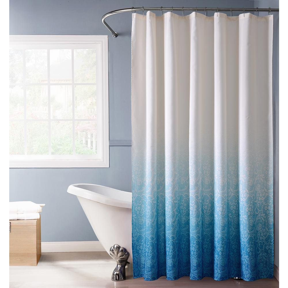 dainty home lace ombre shower curtain