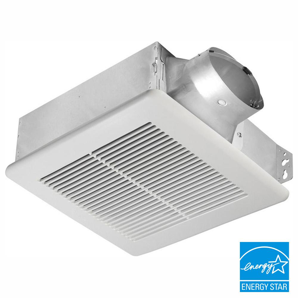 Delta Breez Slim Series 80 Cfm Ceiling Or Wall Bathroom Exhaust