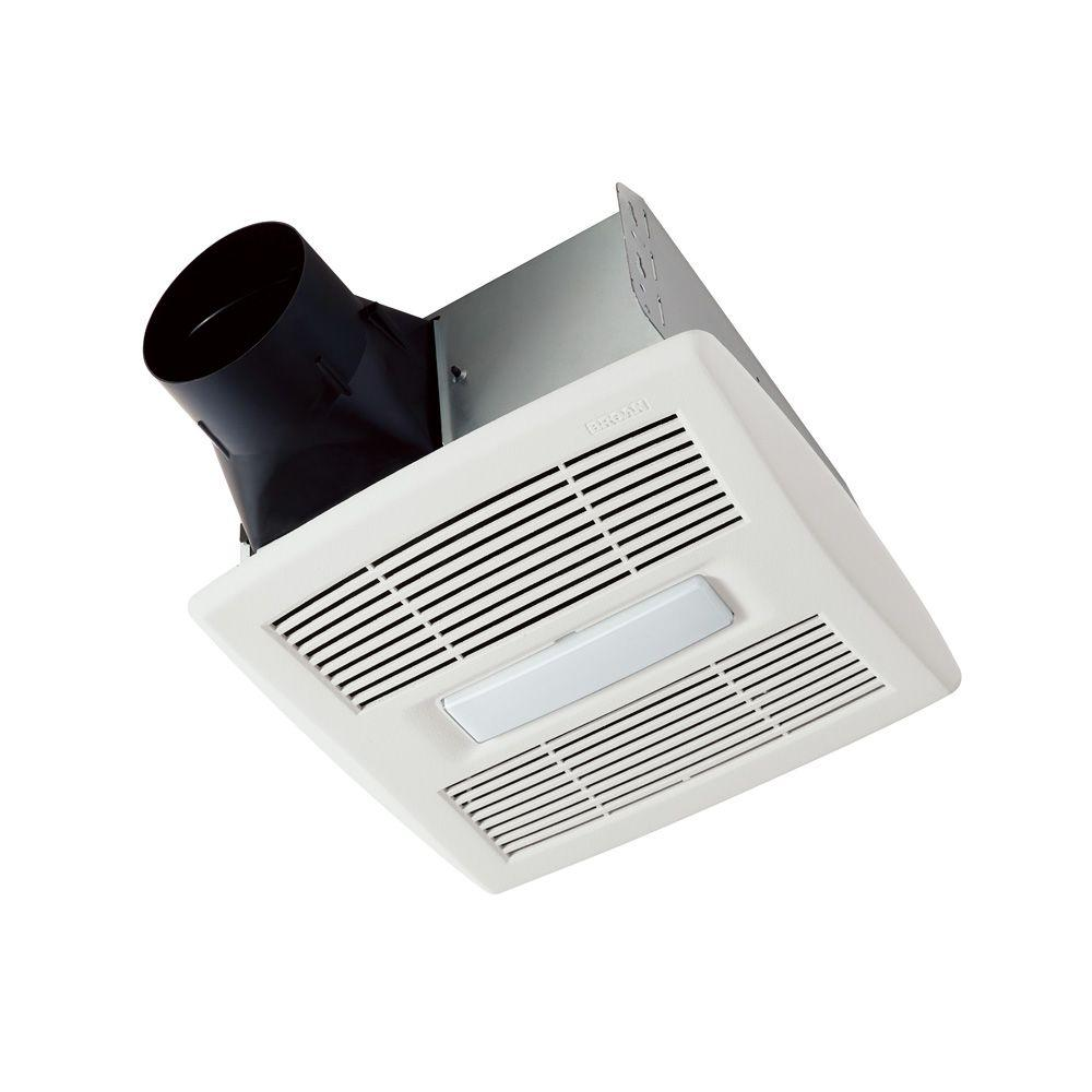 broan invent series 80 cfm ceiling bathroom exhaust fan with light