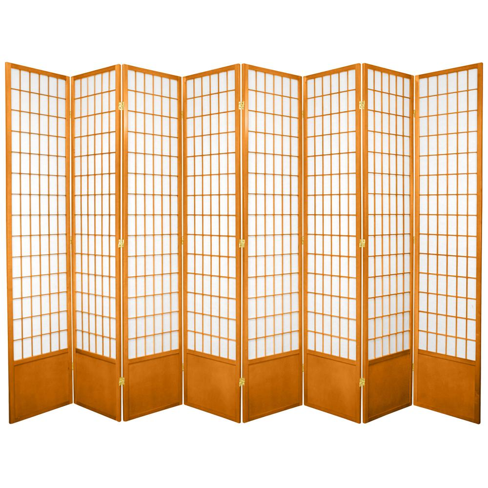 oriental furniture 7 ft honey 8 panel room divider 84wp hon 8p the home depot