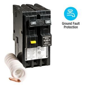 Square D Homeline 50 Amp 2Pole GFCI Circuit Breaker