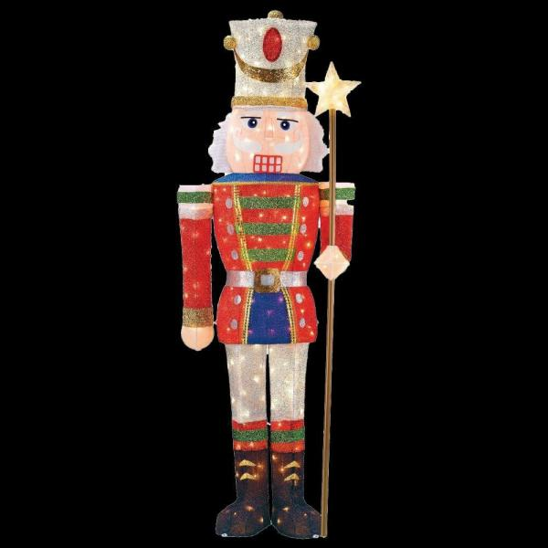 5 ft  Pre Lit Tinsel Nutcracker Soldier TY315 1314   The Home Depot 5 ft  Pre Lit Tinsel Nutcracker Soldier