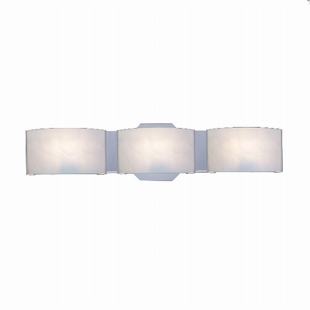 hampton bay dakota 3-light satin nickel vanity light with frosted