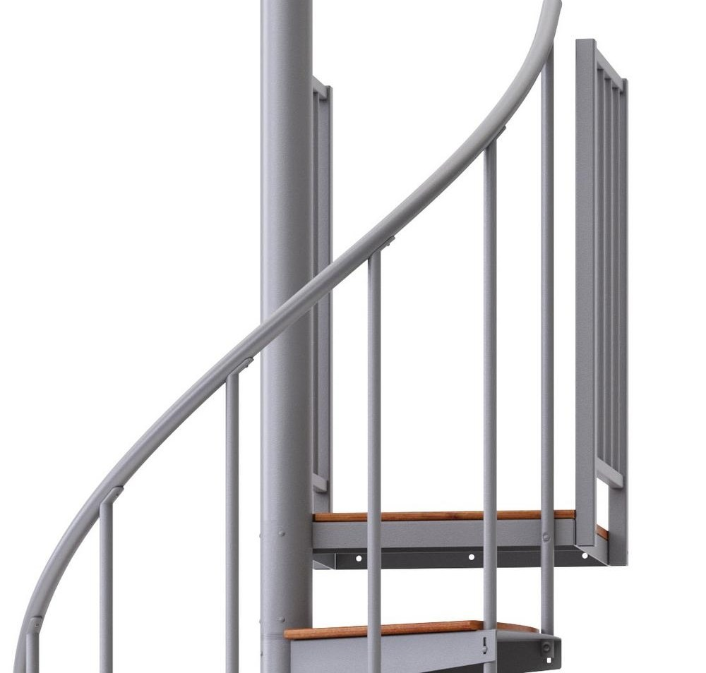 Mylen Stairs Condor Gray Interior 42 Diameter 12 Treads With 1 42 | Outdoor Spiral Staircase Home Depot | Reroute Galvanized | Handrail | Arke Nice1 | Arke Enduro | Galvanized Exterior
