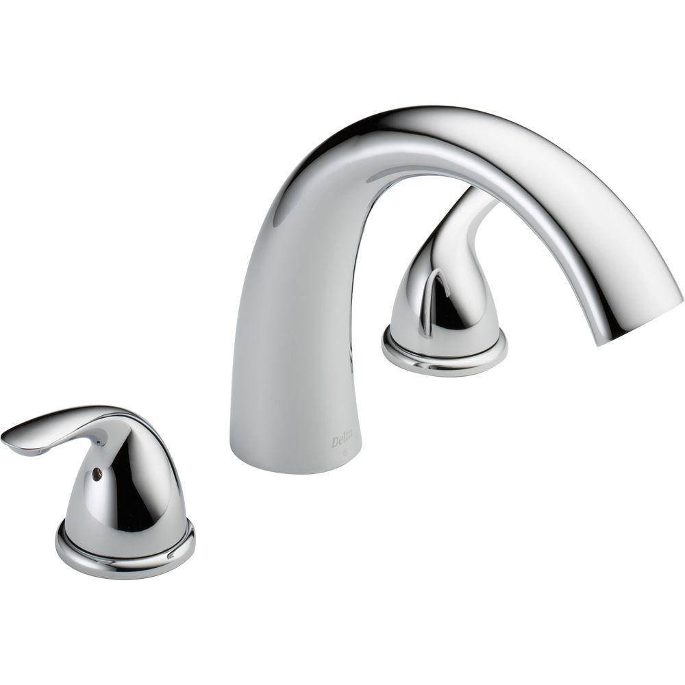 Delta Classic 2 Handle Deck Mount Roman Tub Faucet Trim