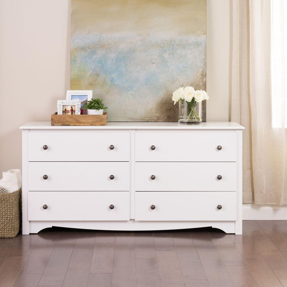 white - dressers & chests - bedroom furniture - the home depot