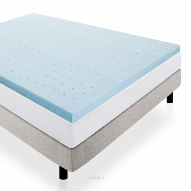 Queen Gel Infused Memory Foam Mattress Pad
