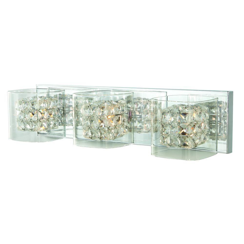 Home Decorators Collection Crystal Cube 3-Light Polished ...