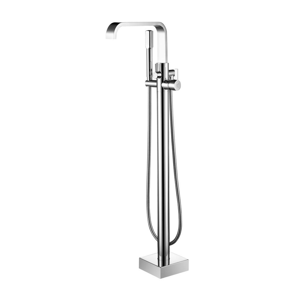 Aston Braxton Single Handle Floor Mount Roman Tub Faucet
