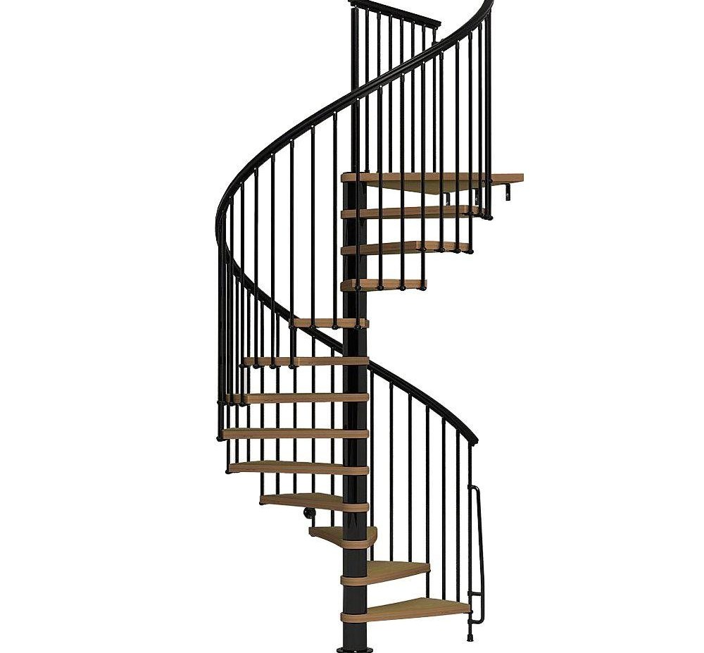 Arke Nice1 63 In Black Spiral Staircase Kit K50107 The Home Depot | Outdoor Spiral Staircase Prices | Dipped Galvanized | Stair Treads | Furniture Ideas | Deck | Treads