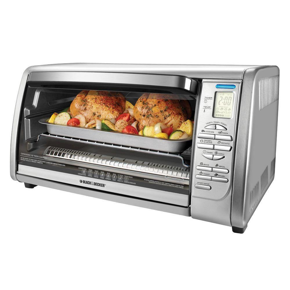 Black Advantage Digital Oven Decker Toaster