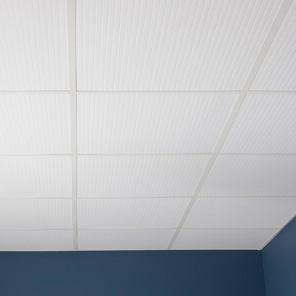 genesis printed pro white ceiling tiles