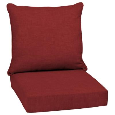 red outdoor cushions patio