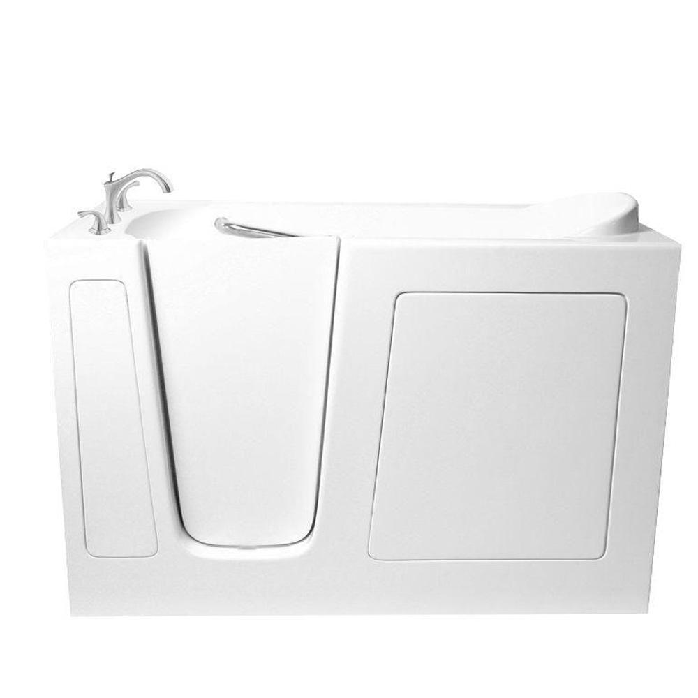 Ariel 5 Ft Walk In Left Hand Bathtub In White EZWT 3060