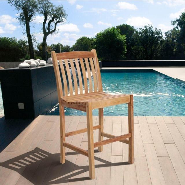 amazonia eden solid teak wood patio bar stools (2-set)-sc_2boma
