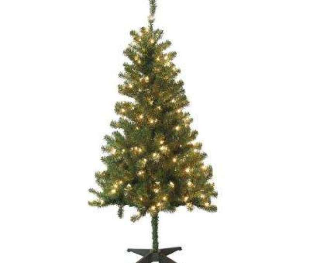 Wood Trail Pine Artificial Christmas Tree With  Clear Lights