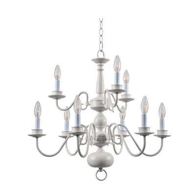 Williams 9 Light White Chandelier