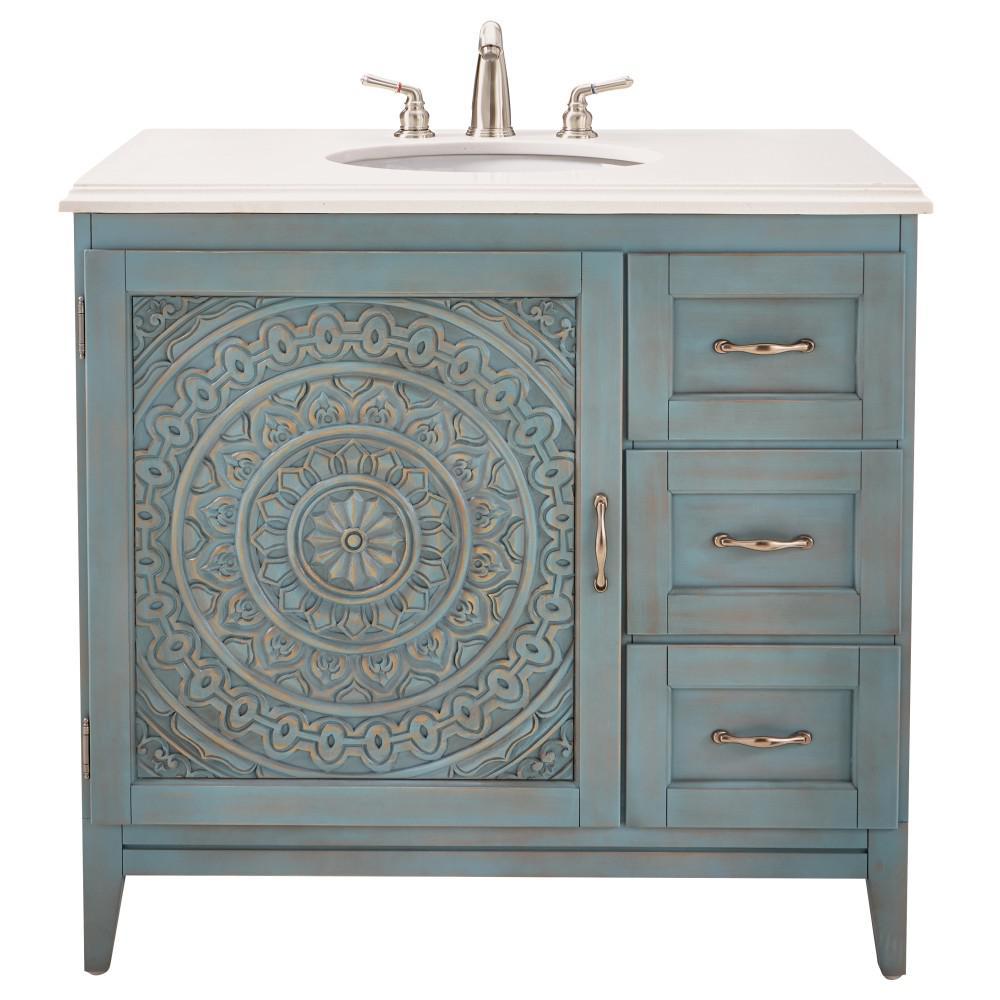 36 inch vanities - blue - bathroom vanities - bath - the home depot