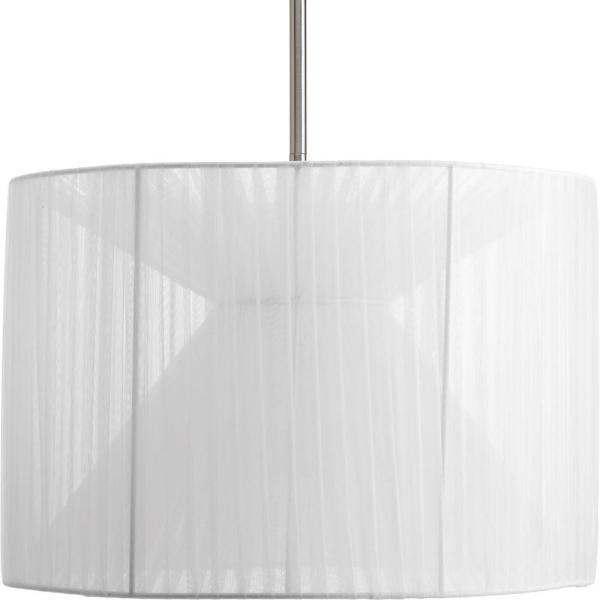 Progress Lighting Markor Collection Silver Chiffon Accessory Shade     Progress Lighting Markor Collection Silver Chiffon Accessory Shade