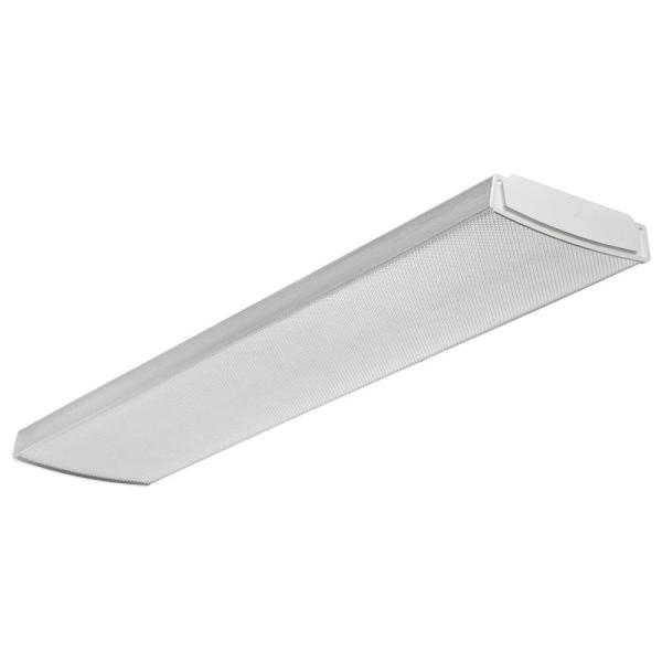 Lithonia Lighting 4 ft  flush Mount Ceiling White LED Wraparound     Lithonia Lighting 4 ft  flush Mount Ceiling White LED Wraparound Light   Pallet of 28