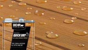 BEHR Premium 1 Gal Transparent Quick Dry Oil Base Wood