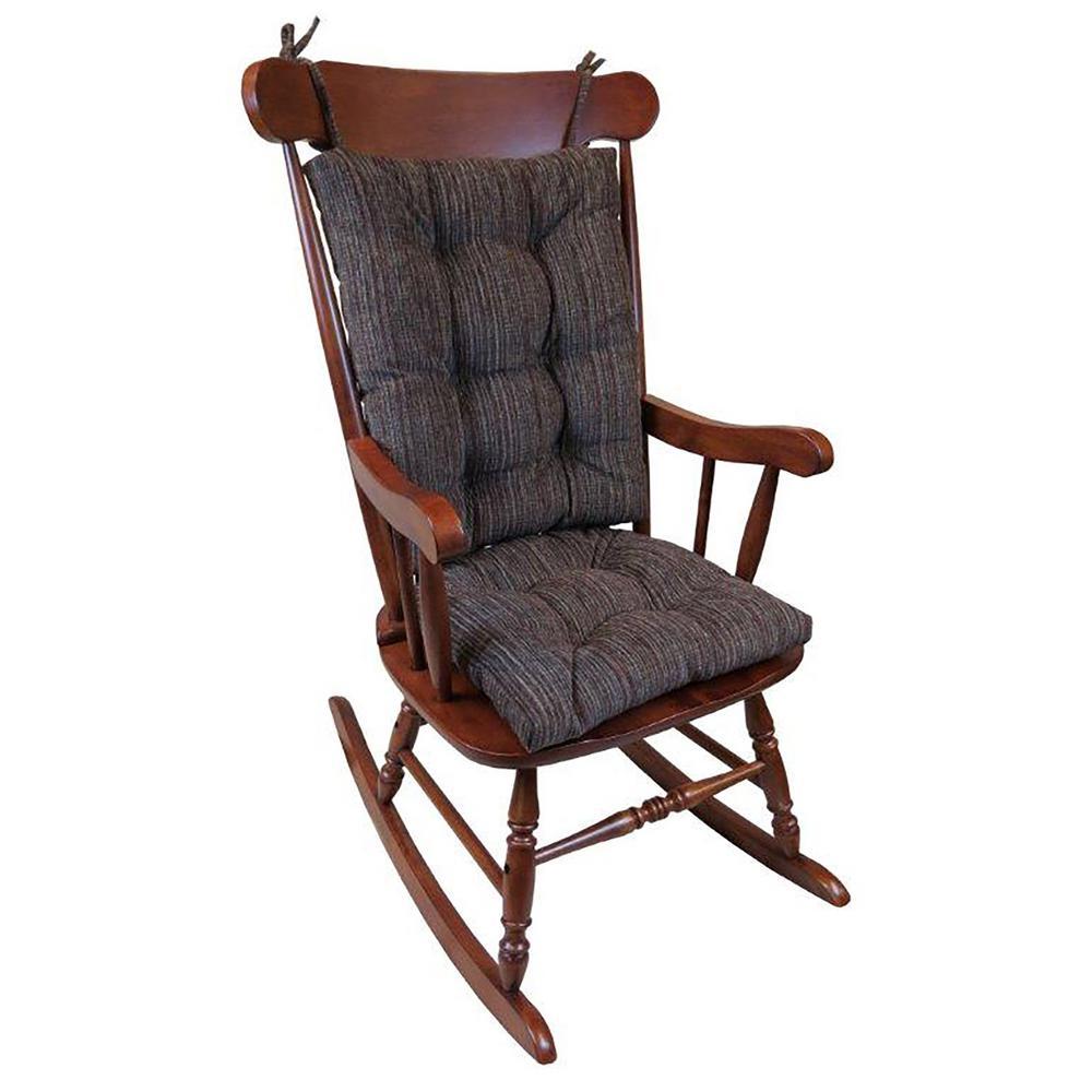 klear vu gripper polar chenille chocolate jumbo rocking chair cushion set 849177xl 15 the home depot