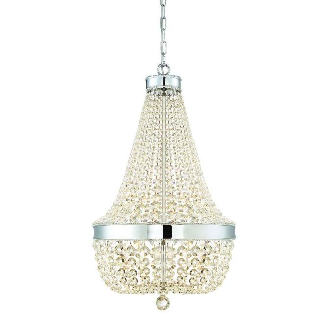 Home Decorators Collection 6 Light Chrome Crystal Chandelier