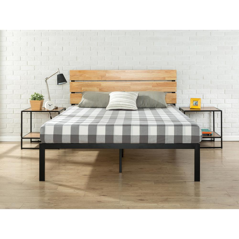 Zinus Sonoma Metal and Wood Black Full Platform Bed HD HBPBA 14F     Zinus Sonoma Metal and Wood Black Full Platform Bed