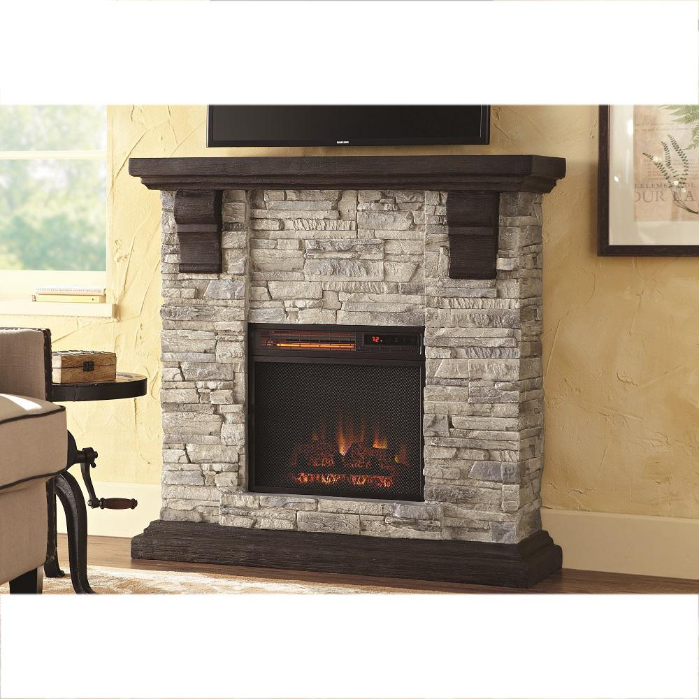 Quartz Infrared Electric Fireplace Heater