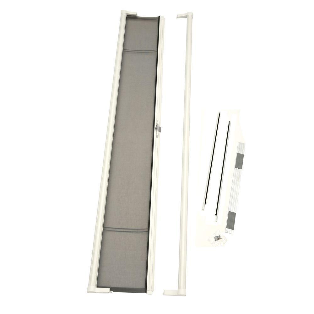 36 In X 96 In Brisa White Tall Retractable Screen Door 77010381