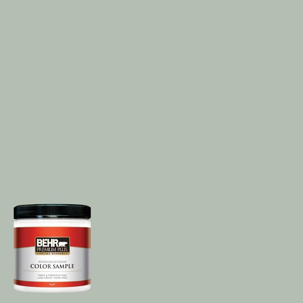BEHR Premium Plus 8 oz   N400 3 Flagstaff Green Flat Interior      N400 3 Flagstaff Green Flat Interior Exterior