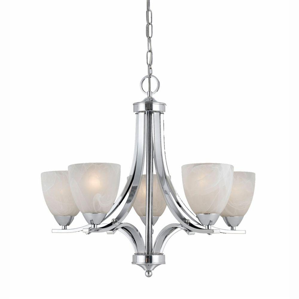 Canarm Summerside 5 Light Chrome Chandelier Ich282b05ch25