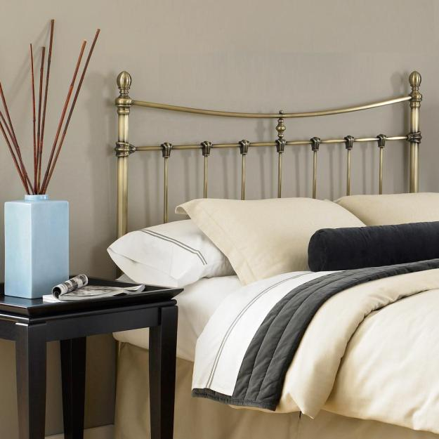 fashion bed group leighton california king-size metal headboard with