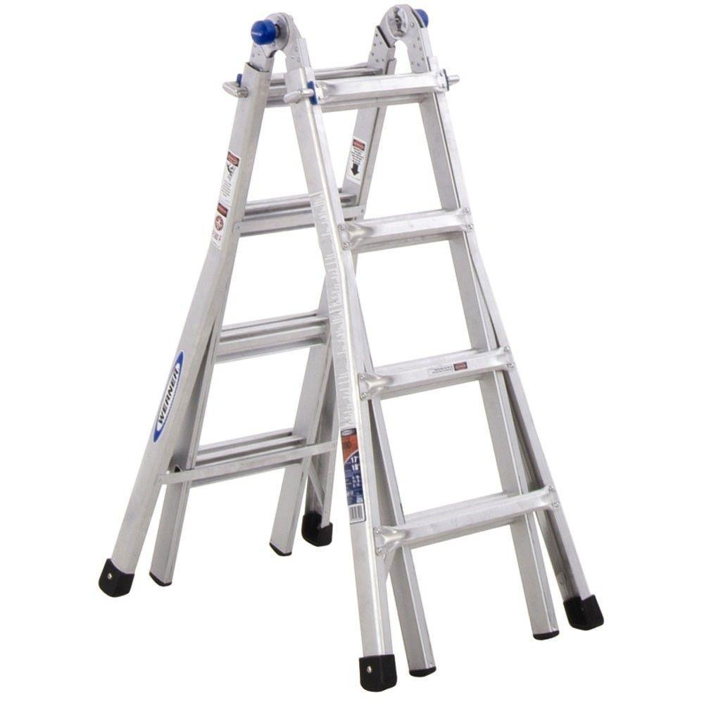 Ia Werner Lb Type Aluminum Multi Ft 17 Position Ladder Telescoping 300