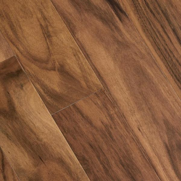 Engineered Hardwood   Wood Flooring   The Home Depot Matte Natural Acacia 3 8 in  Thick x 5 in  Wide x Varying