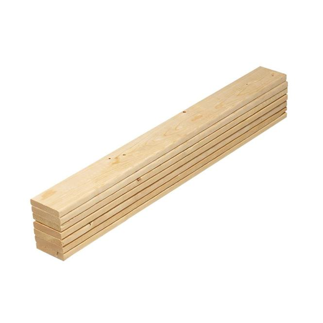 Pine Twin Bed Slat Board 7 Pack 231573 The Home Depot