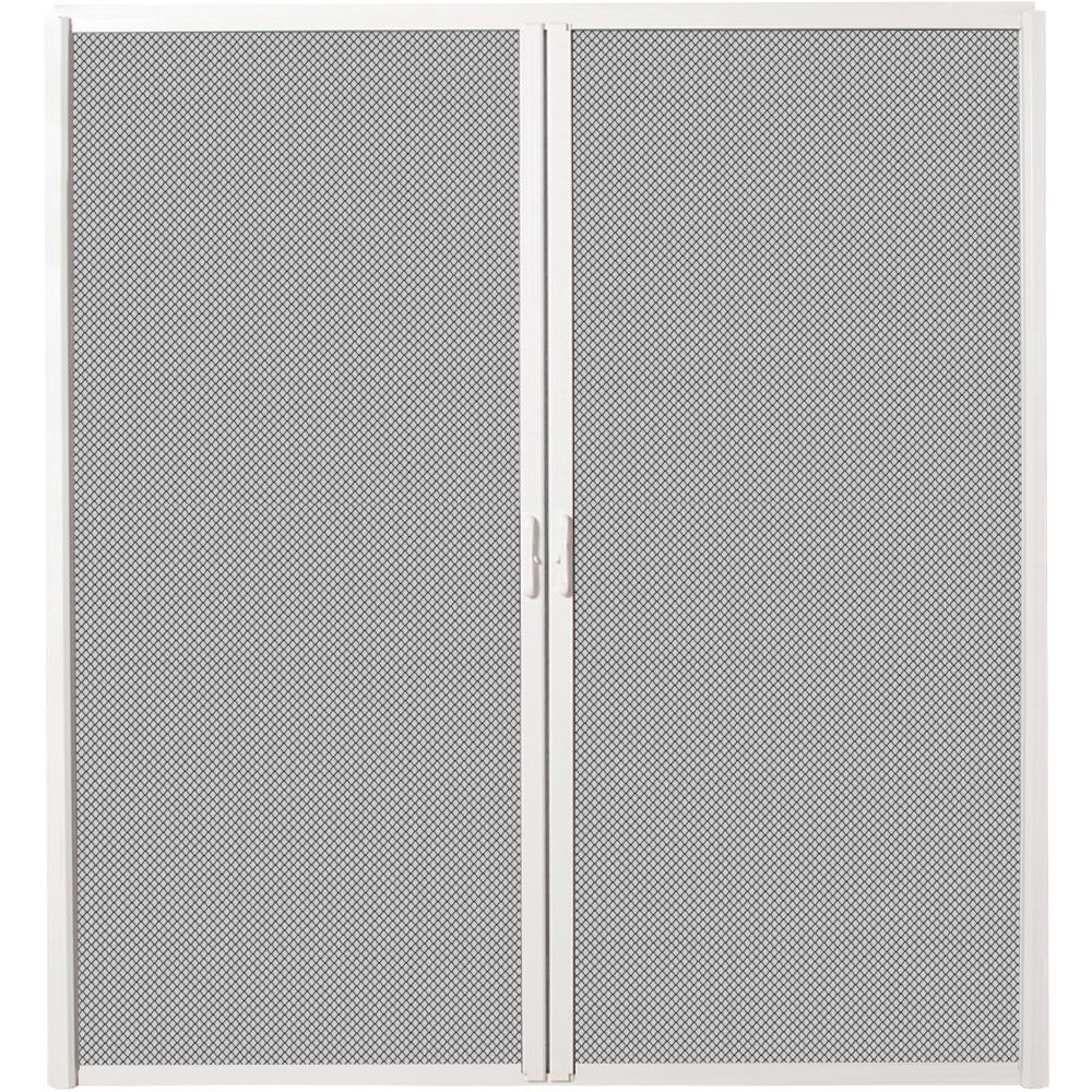 Mmi Door 72 In X 82 In White Aluminum Inswing Retractable Double
