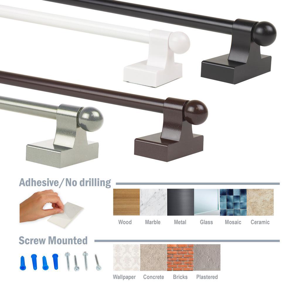 adhesive curtain rod hooks