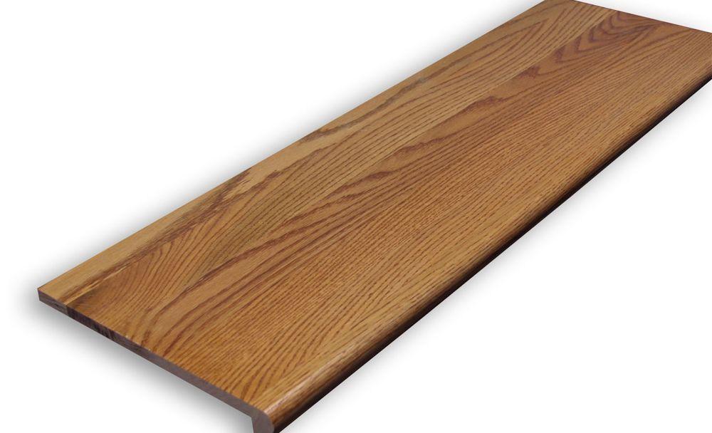 Stairtek 625 In X 11 5 In X 36 In Prefinished Gunstock Red | Prefinished Oak Stair Treads | Natural Red Oak | Risers | Hardwood Flooring | Stair Parts | Flooring