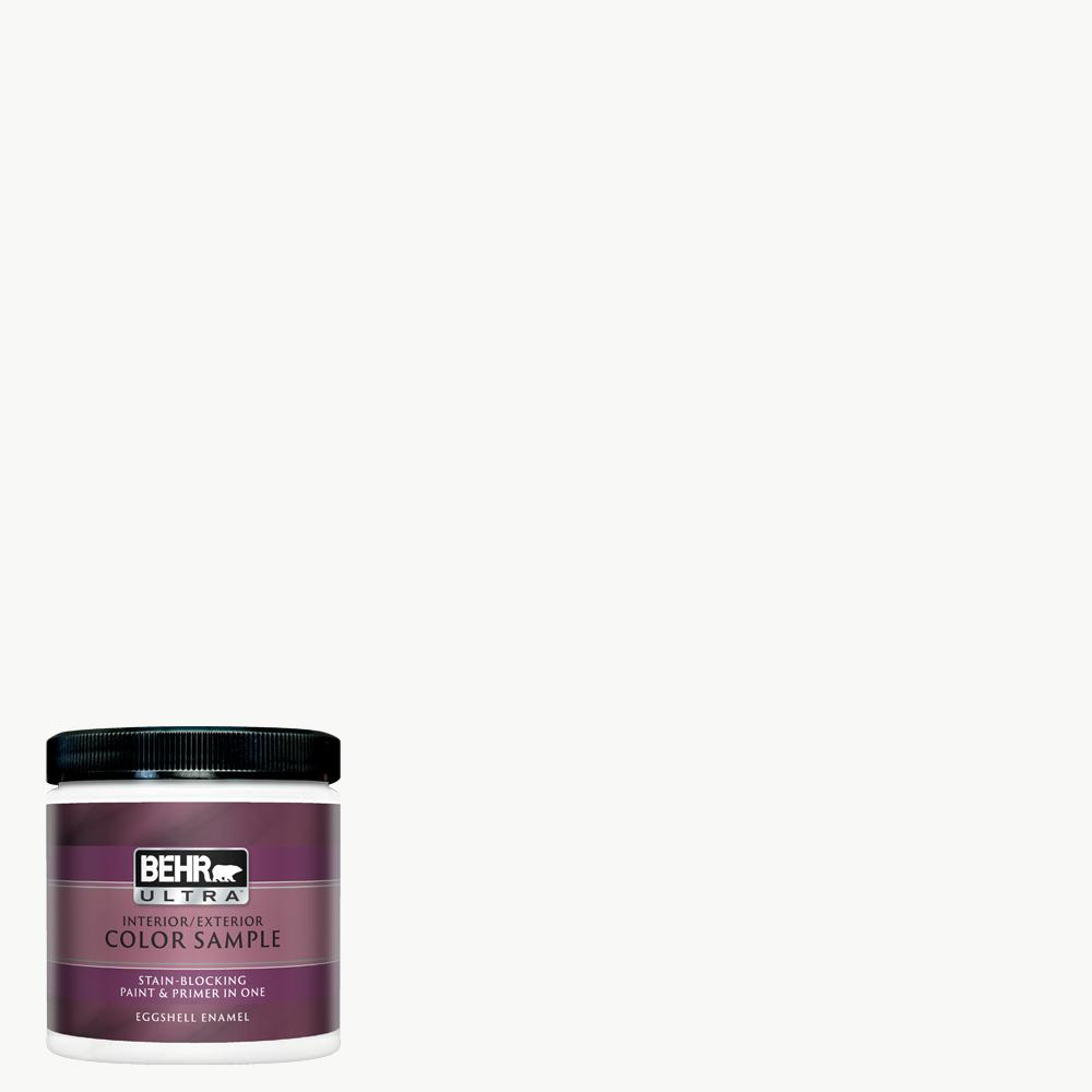 Behr Ultra 8 Oz Ultra Pure White Eggshell Enamel Interior Paint And Primer In One Sample Ul21016 The Home Depot