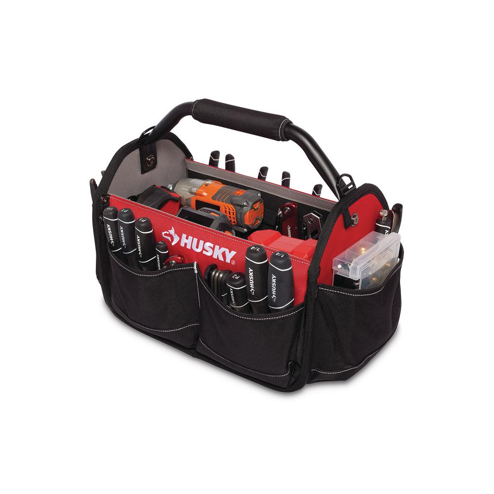 Husky 15 In Open Tool Tote With Rotating Handle GP 58383AN18 The Home Depot