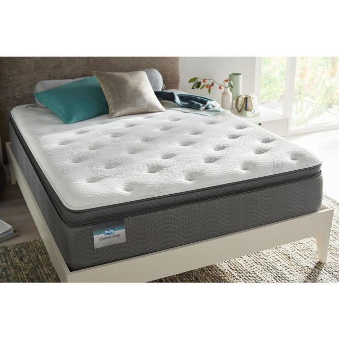 Simmons Beautysleep North Star Bay Twin Luxury Firm Pillow Top Low Profile Mattress Set