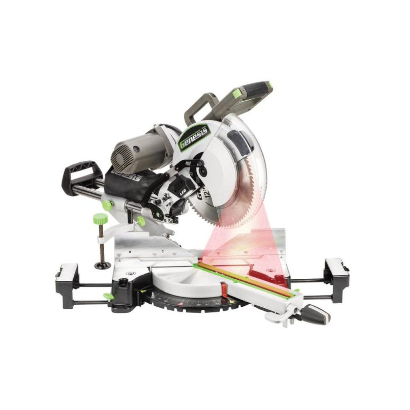 Dual Bevel Sliding Compound Miter Saw With Laser