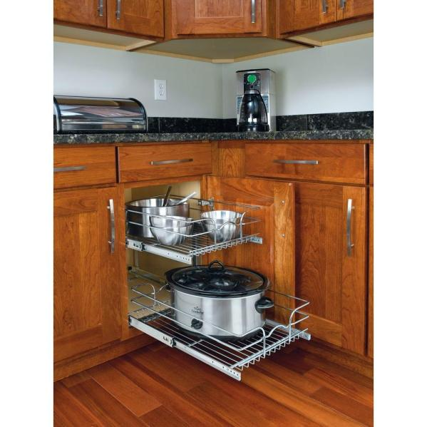 Pull Out Sliding Metal Kitchen Pot Cabinet Storage: Kitchen Cabinets A Mess? Here's How To Organize Them